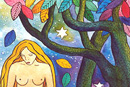 Watercolour of Mythology - Eve