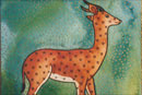 Watercolour of Animals - Deer with Stars
