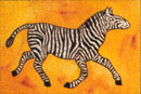 Watercolour of Animals - Zebra with Stars