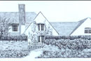 Pen and Ink Drawing of Pear Tree Cottage, Sarratt