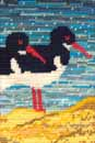 Needlepoint of Beach Oystercatchers