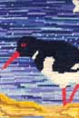 Needlepoint of Oystercatcher and Bird