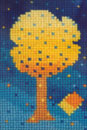 Needlepoint of Spring Tree
